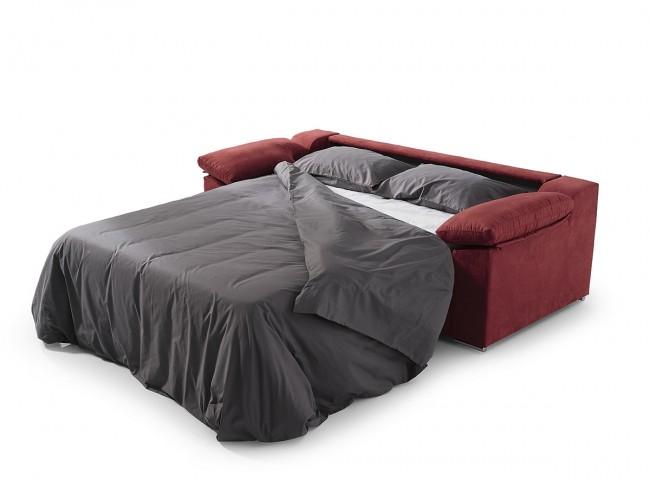 Sofá cama italiano modelo Nerea abierto