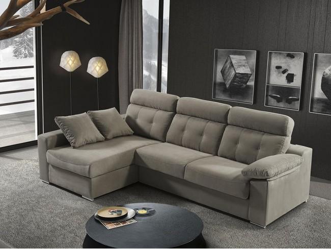 Sofá chaise longue cama italiano modelo Nerea