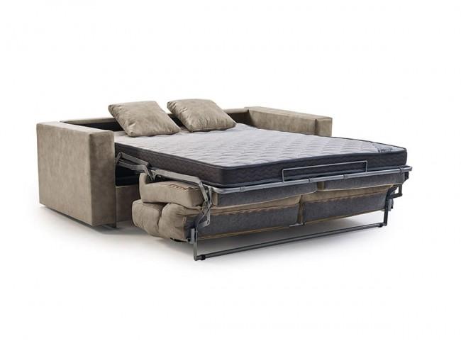 Sofá cama italiano modelo Nuria abierto