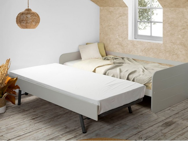 Cama nido con somier modelo Redona detalle