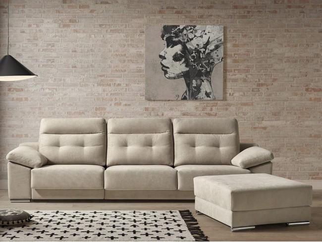 Sofá chaise longue reversible modelo Ainara