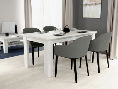 Mesa de comedor extensible de 160x90 cm color roble nieve