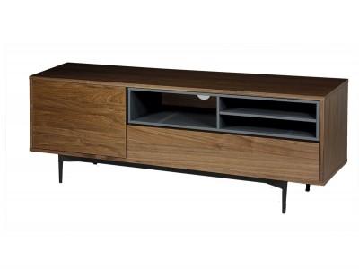 Mueble TV de 152x40 cm nogal-gris