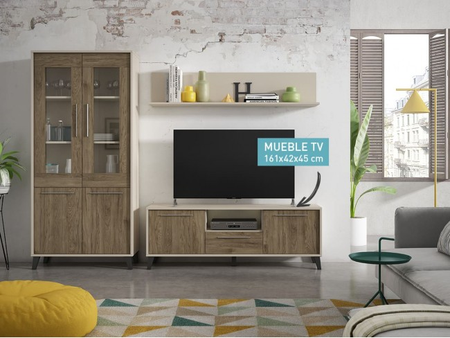 Mueble TV 161 cm modelo Top 2/P + 1/C