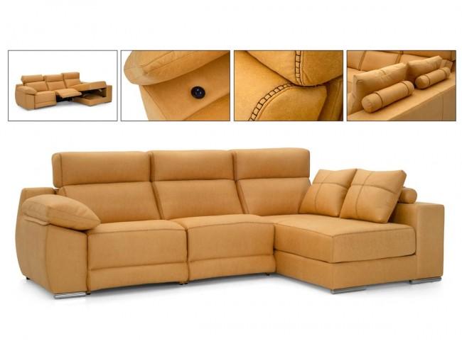 Sofá chaise longue con arcón de 300 cm