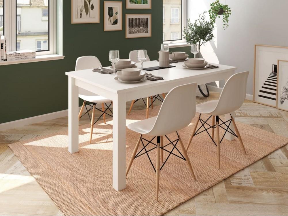 Mesa comedor rectangular extensible de 135x90 cm polar