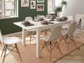 Mesa comedor rectangular extensible de 135x90 cm polar abierta