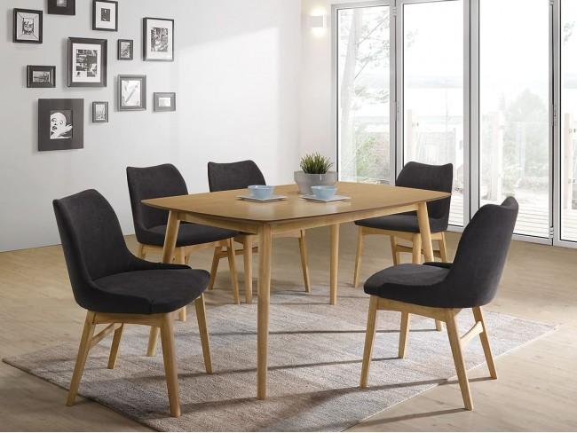 Mesa de comedor de 150x90 cm roble AM