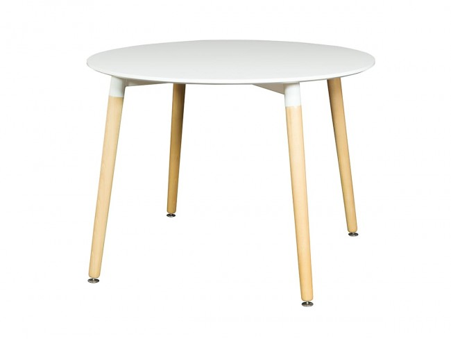 Mesa redonda de 100 cm blanco