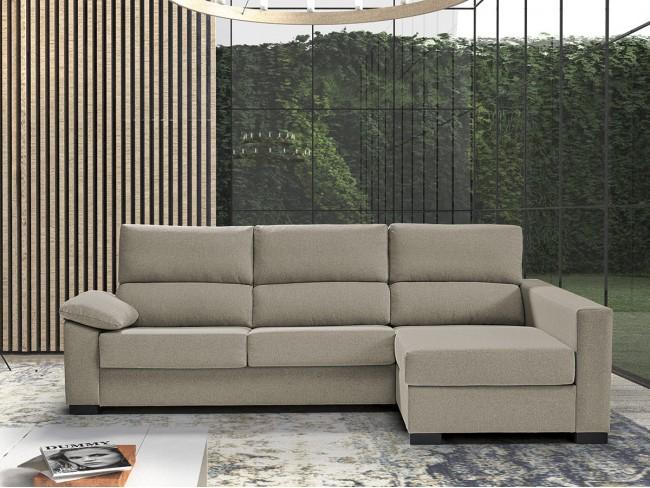 Sofá chaise longue cama italiano modelo Leyre