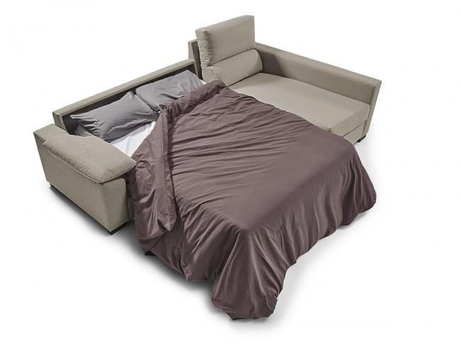 Sofá chaise longue cama italiano modelo Leyre abierto