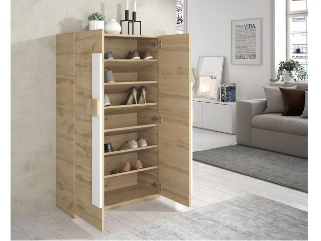 Mueble zapatero modelo On Concept Design 2p quebec polar abierto