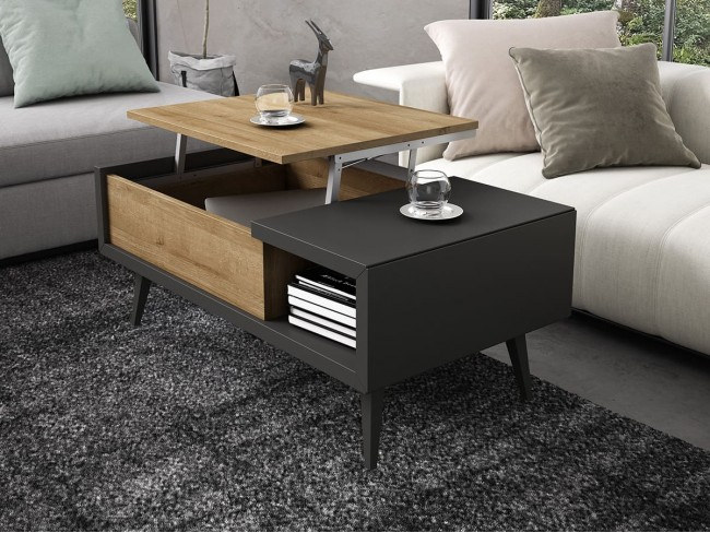 Mesa de centro loop elevable modelo One