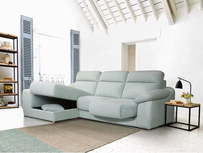 Sofá chaise longue arcón modelo Ariel S4 detalle