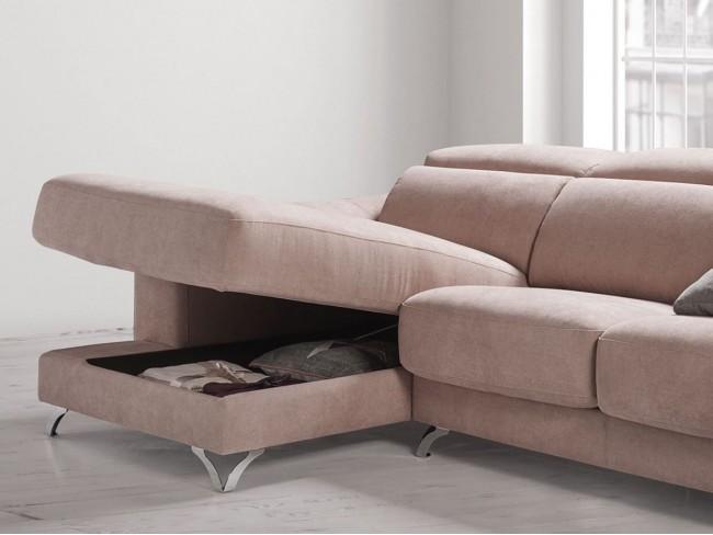 Sofá chaise longue canapé modelo Doroty detalle