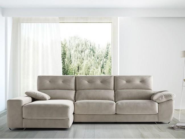 Sofá chaise longue canapé modelo Pamela