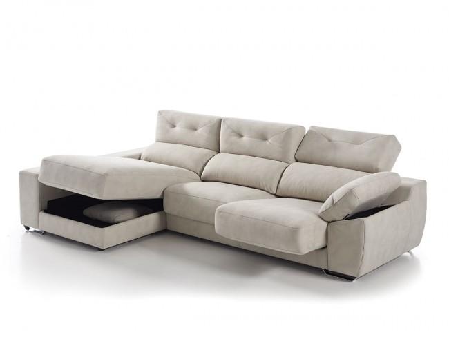 Sofá chaise longue canapé modelo Pamela detalle
