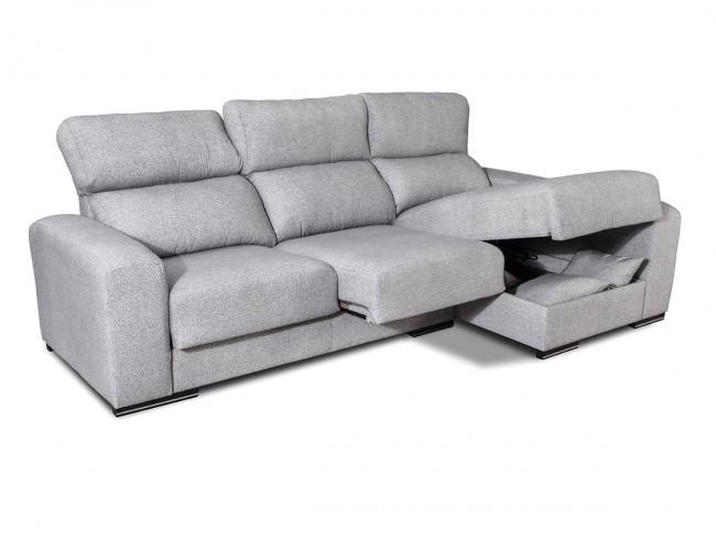 Sofá chaise longue reversible modelo Roni