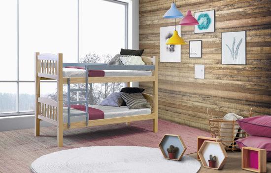 Literas de madera: pensando de dos en dos